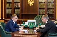 Алексей Текслер встретился с Дмитрием Вяткиным