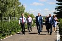 Агаповский район с рабочим визитом посетил Виталий Бахметьев