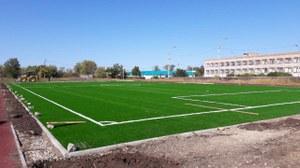 Строительство спортивной площадки в п. Наровчатка