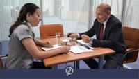 Заместитель главы по экономике Агаповского муниципального района Юрий Заневский посетил «Территорию Бизнеса».