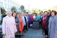 В Агаповке торжественно открыли аллею Славы Учителей
