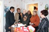 Ветераны Агаповского района принимали поздравления с Днем Победы